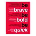 Sea valiente. Sea intrépido. Sea rápido. Citas de Tarjetas Postales