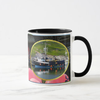 Sea Venture, Crab Boat in Dutch Harbor, Alaska Mug