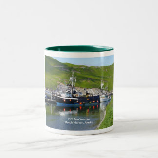 Sea Venture, Crab Boat in Dutch Harbor, Alaska Two-Tone Coffee Mug
