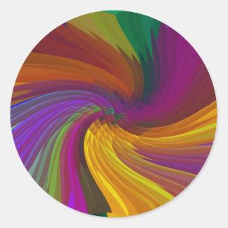 Sea verdad/viva en color_ pegatina redonda