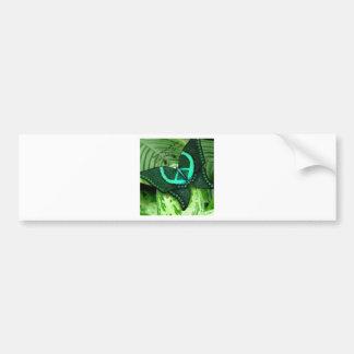 Sea verde etiqueta de parachoque