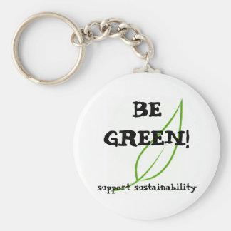 ¡Sea verde! Llavero