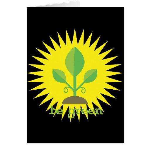 Sea verde tarjeta de felicitación