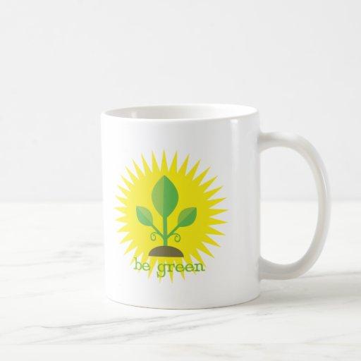 Sea verde taza básica blanca