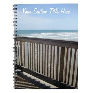 Sea View Custom Spiral Notebook
