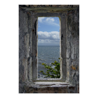 Sea View Effect from a Fake Castle Window Poster