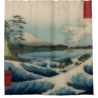 Sea view from Satta Point Shower Curtain