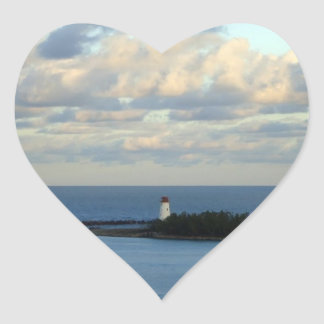 Sea View II Heart Sticker