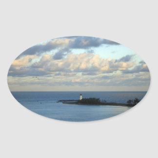 Sea View II Oval Sticker