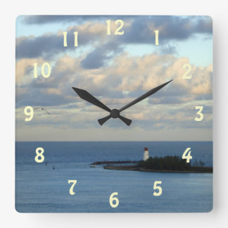 Sea View II Square Wall Clock