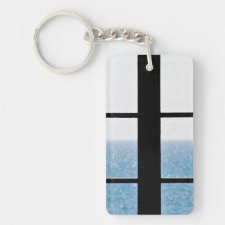 Sea view keychain