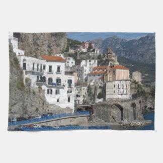 Sea view of village Atrani Hand Towels
