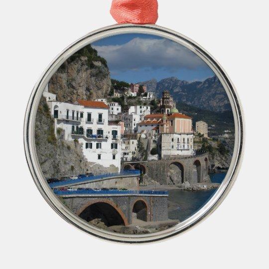 Sea view of village Atrani Metal Ornament