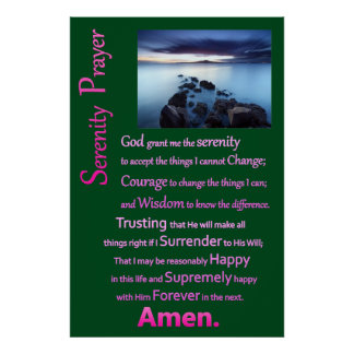 Sea View The Serenity Prayer Poster