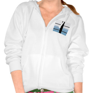 Sea view hooded pullovers