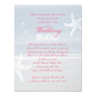 Sea View Wedding Breakfast Invitation