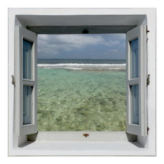 Sea View Window Poster