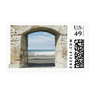 Sea viewed from an archway postage stamps