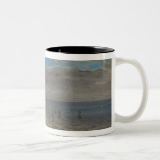 Sea Viewed from the Heights of Dieppe Two-Tone Coffee Mug