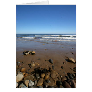 Sea Views With Pebbles Blank Card
