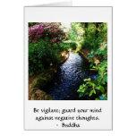 Sea vigilante; guarde su mente contra negativa ... tarjetón