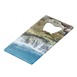 Sea Washed Rocks Credit Card Bottle Opener
