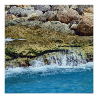 Sea Washed Rocks Poster