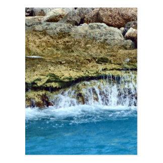 Sea Washed Rocks Vert. Postcard