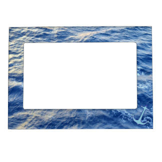 Sea Water Anchor Blue Magnetic Photo Frame