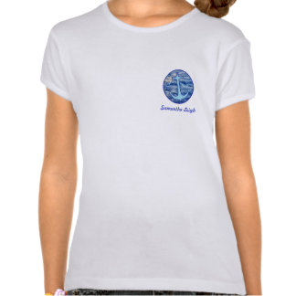 Sea Water Anchor Blue Personalized T Shirts