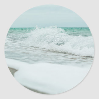 sea water classic round sticker