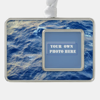 Sea Water Custom Photo Silver Plated Framed Ornament