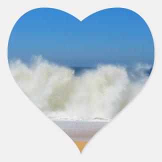 sea water heart sticker