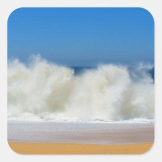 sea water square sticker