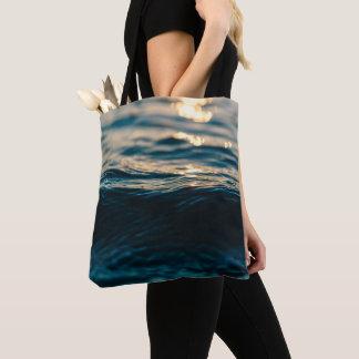 Sea wave tote bag