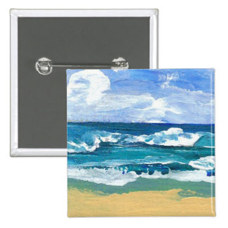Sea Waves at Play - CricketDiane Ocean Art Button