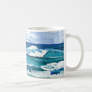 Sea Waves at Play - CricketDiane Ocean Art Coffee Mug