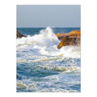 Sea waves card