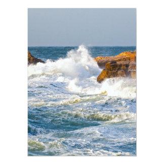 Sea waves card