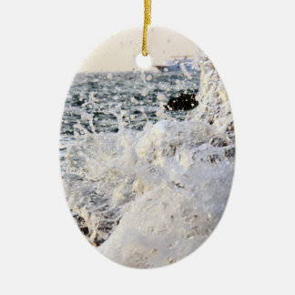 sea waves ceramic ornament