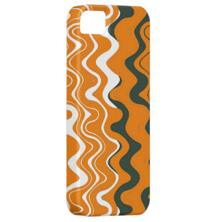Sea Wavy Stripes Pattern (Orange, White, Grey) iPhone SE/5/5s Case