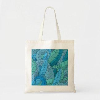 Sea weed pattern tote bag