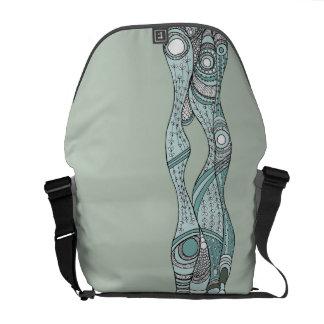 Sea Weeds soft teal messenger Messenger Bag