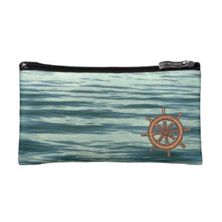 Sea Wheel and Moonlit Sea Makeup Bag
