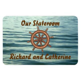 Sea Wheel Stateroom Door Marker Rectangular Photo Magnet