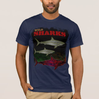 sea wild sharks cool tee