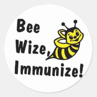 ¡Sea Wize inmunizan! Pegatina Redonda