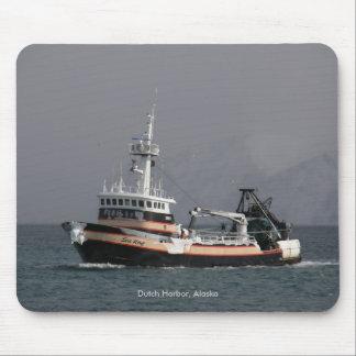 Sea Wolf, Fishing Trawler in Dutch Harbor, AK Mouse Pad