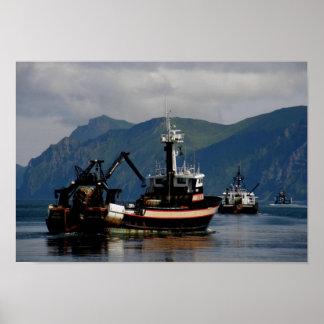 Sea Wolf, Fishing Trawler in Dutch Harbor, AK Posters