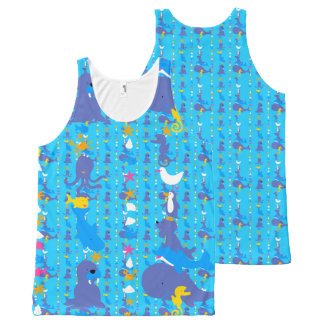 Sea world-Repeated All-Over-Print Tank Top